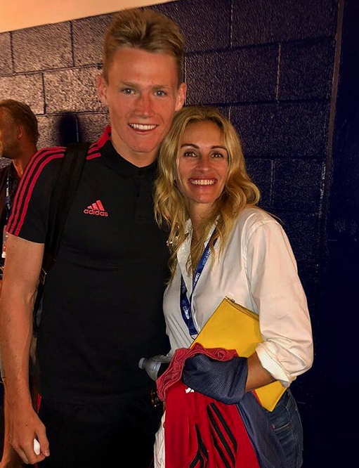 Scott McTominay hair with Julia Roberts